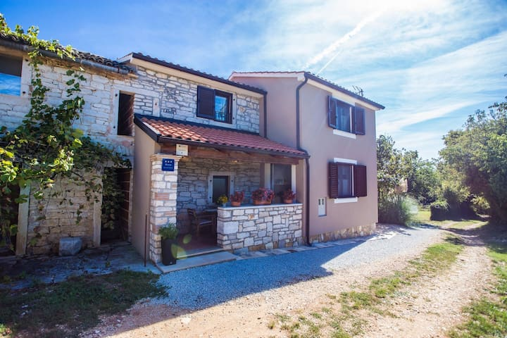 Quietly located holiday home with spacious terrace at 1.5 km from the beach of Lanterna