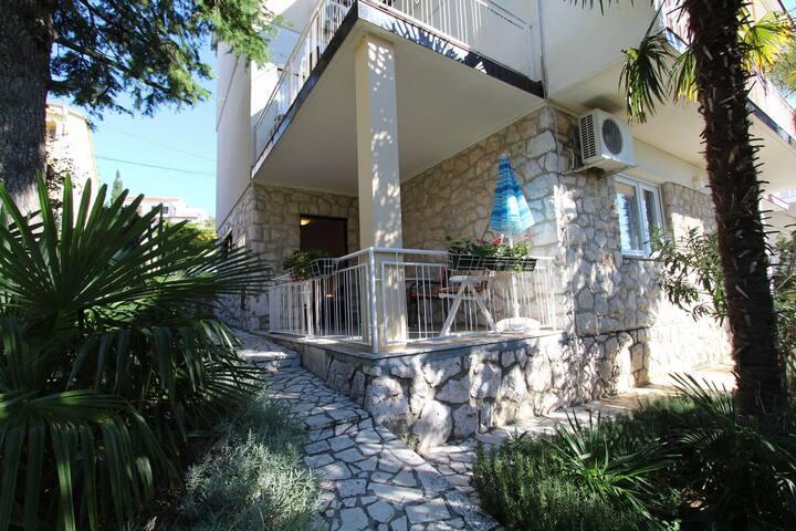 One bedroom Apartment, seaside in Dramalj (Crikvenica), Terrace