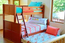 Triple Bunk bed with trundle pulled out