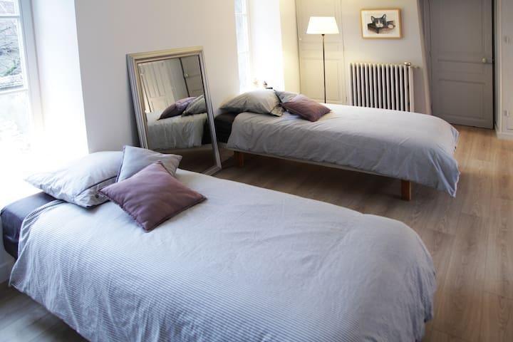 Le Relais de Poste - Room with a bath - Villiers-sous-Grez - House