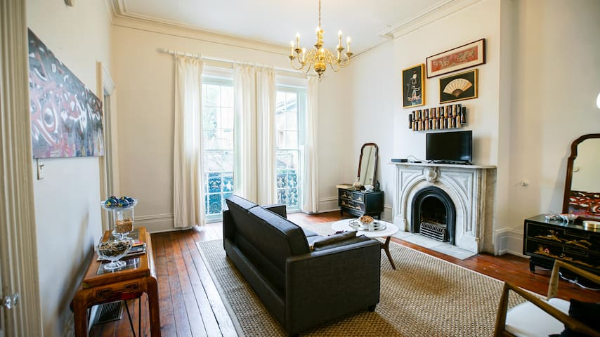 Stunning, Art-Filled Apt in 19th C Building Apt B