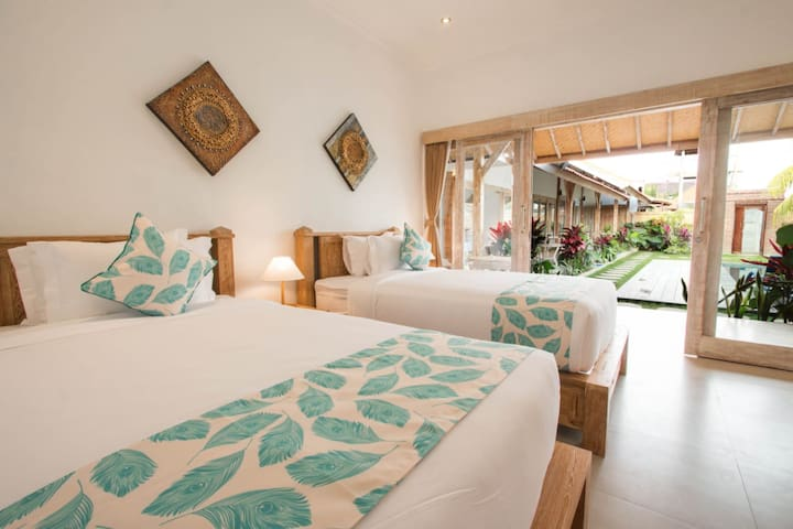 Comfort, cozy and peaceful TWN BF room in Canggu