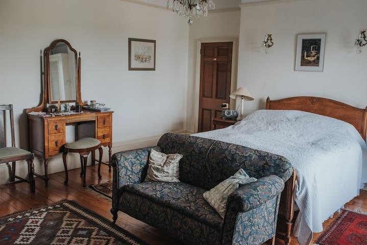Bedroom 1 (double); sink basin in room