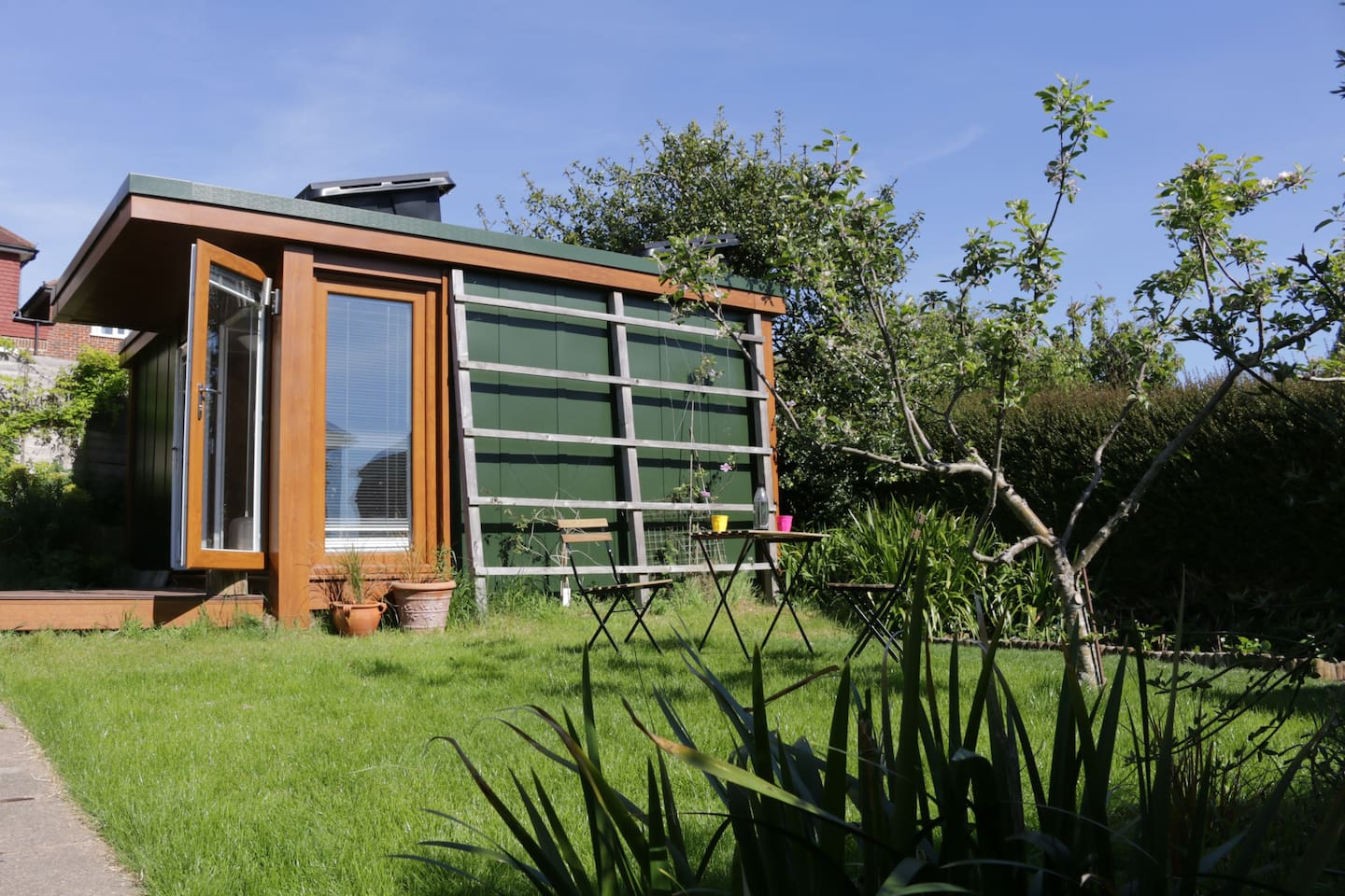 The cabin in its own private garden