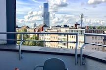 stunning view from terrace - atemberaubende Sicht von der Terrasse