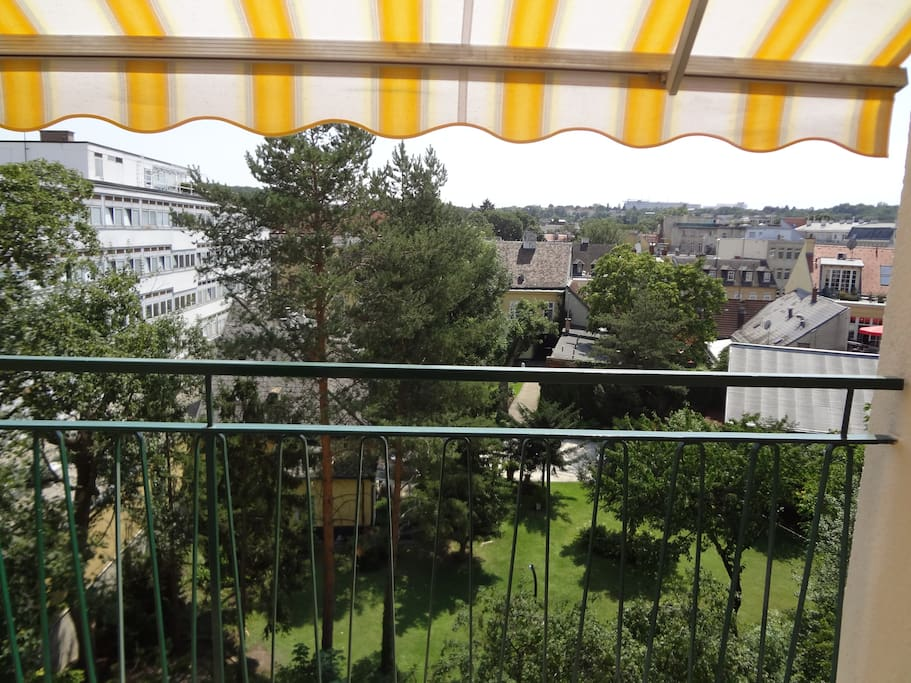 view from the balkony