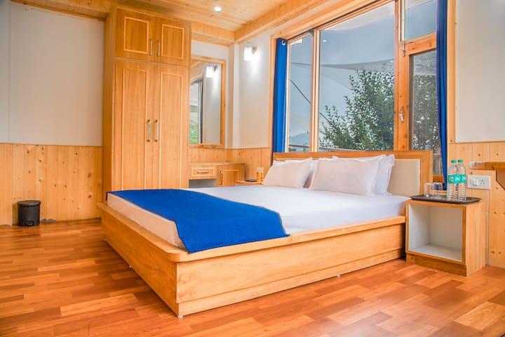 Wooden furnished