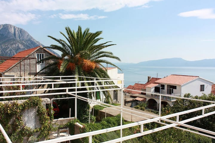 Two bedroom apartment with terrace and sea view Brist, Makarska (A-506-a)
