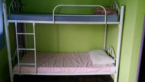 Beautiful view. Bunk beds with private bathroom