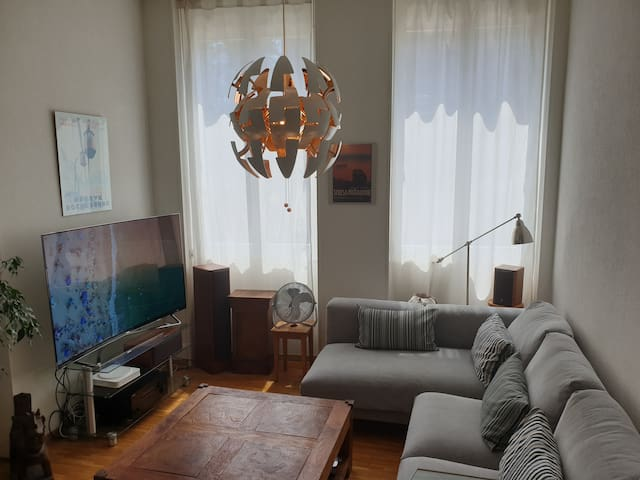 TV / Living room with extra-large 4K TV