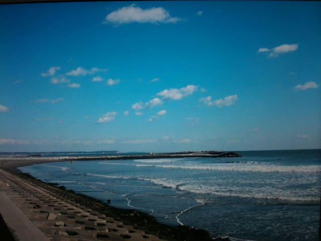 無料駐車 海近 wiFi  一人旅  BBQ  グループ サーフィン、海鮮料理、バイク ツーリング、 - 匝瑳市 - Huis