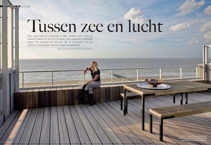 Penthouse Blankenberge Zeedijk: 500 €/week, uniek!