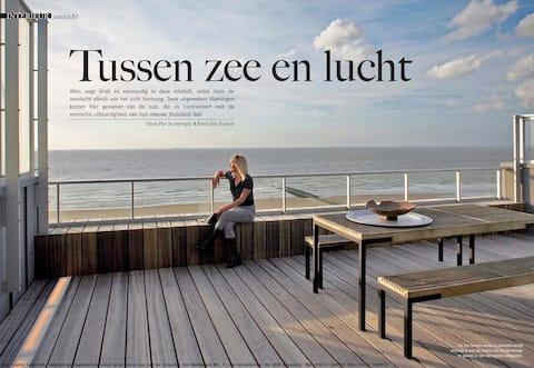 Penthouse Blankenberge Zeedijk: luxury, BBQ, loft!
