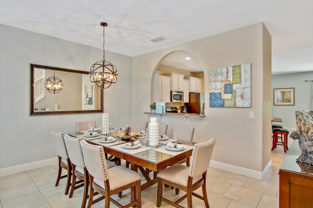 Lovely Formal Dining Area with Seating for Eight