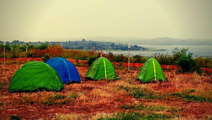 River facing tent stay @Takshashila