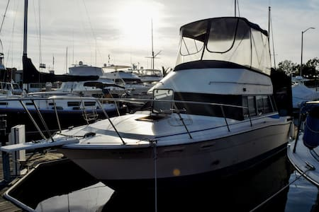 32' Powerboat With Full Canopy in Newport Harbor - Newport Beach - Boat