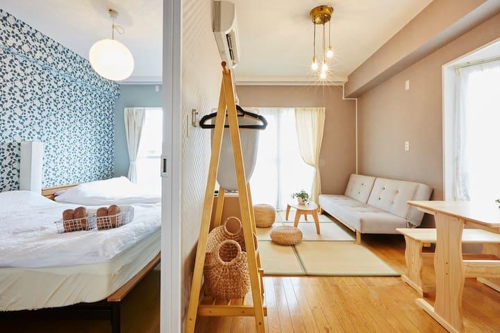 BestTownInTokyo,6minsEbisu,FreeWiFi,2DK,5-6p.404 - Shibuya-ku - Apartment