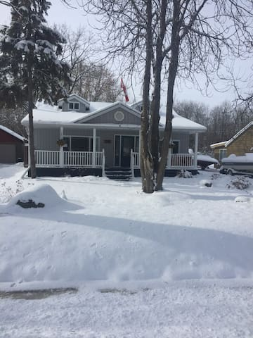 Cottage near Gilford, ON. Ice Fishing & Shopping