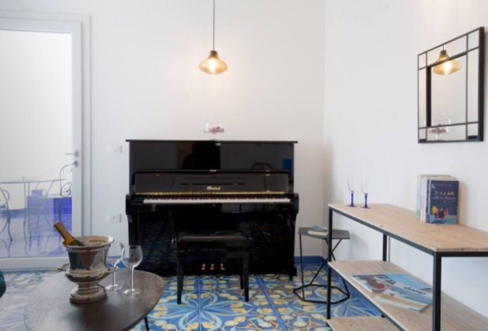 nella stanza music potrete concedervi il giusto relax