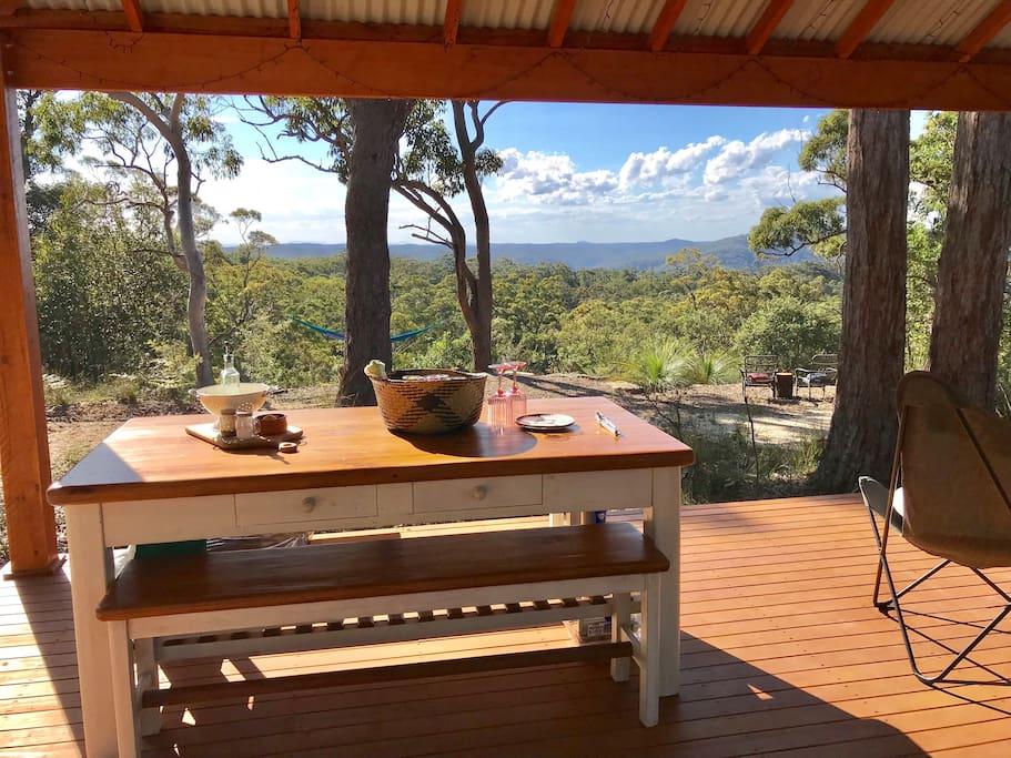 Why not dine overlooking Mt Yengo National Park.