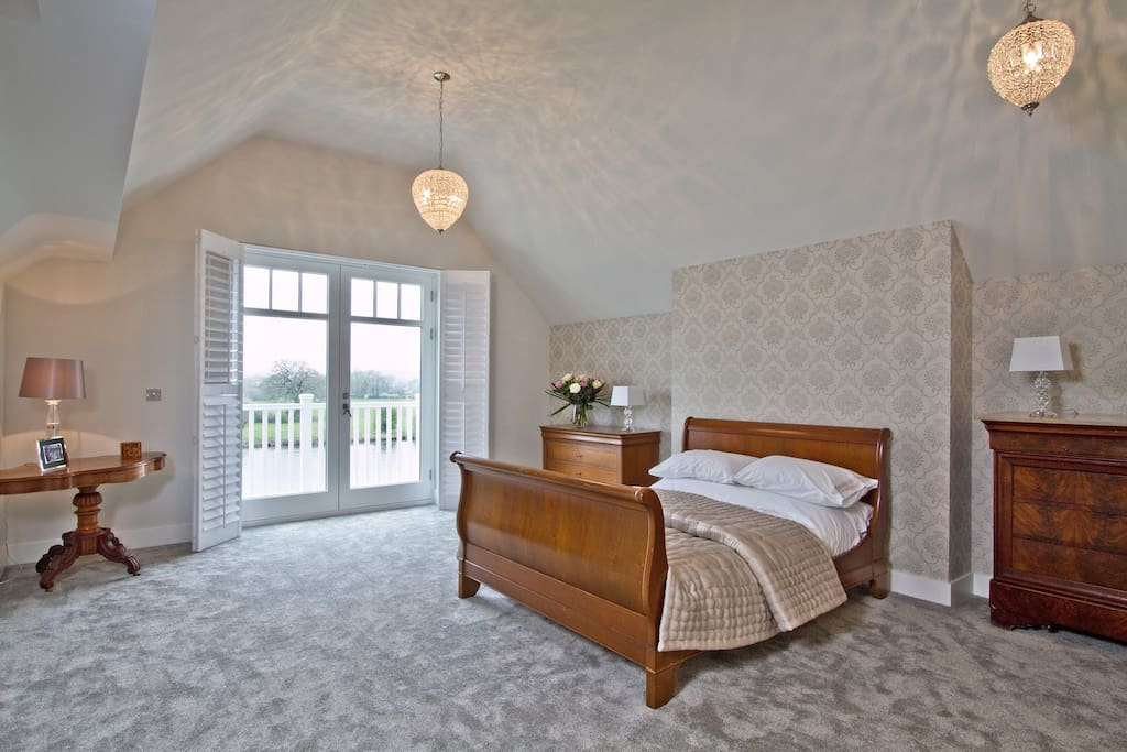 Master suite. River views 12.5m x 5m approx.  £160 per night inc continental breakfast