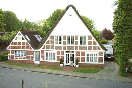 idylisches Ferienhaus am Deich mit 3 Fahrrädern - Krummendeich - Casa
