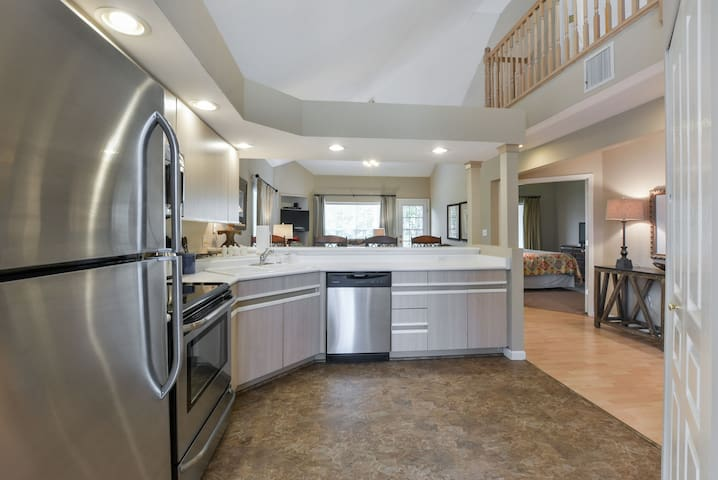 Fully-equipped kitchen with tons of room to spread out!