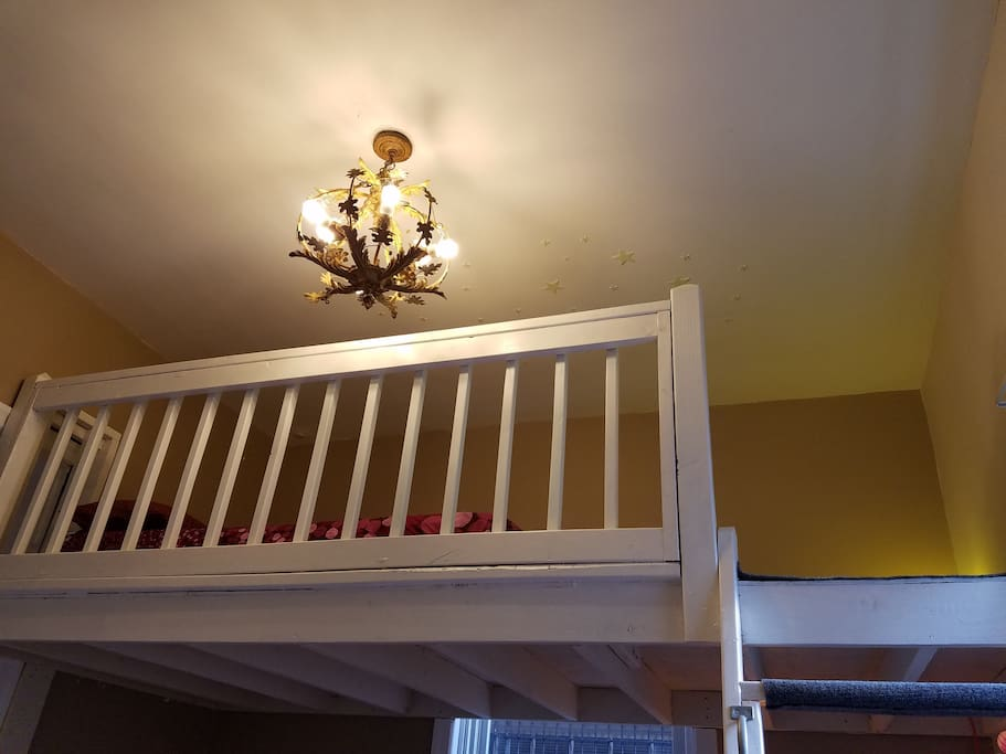 View up to loft.