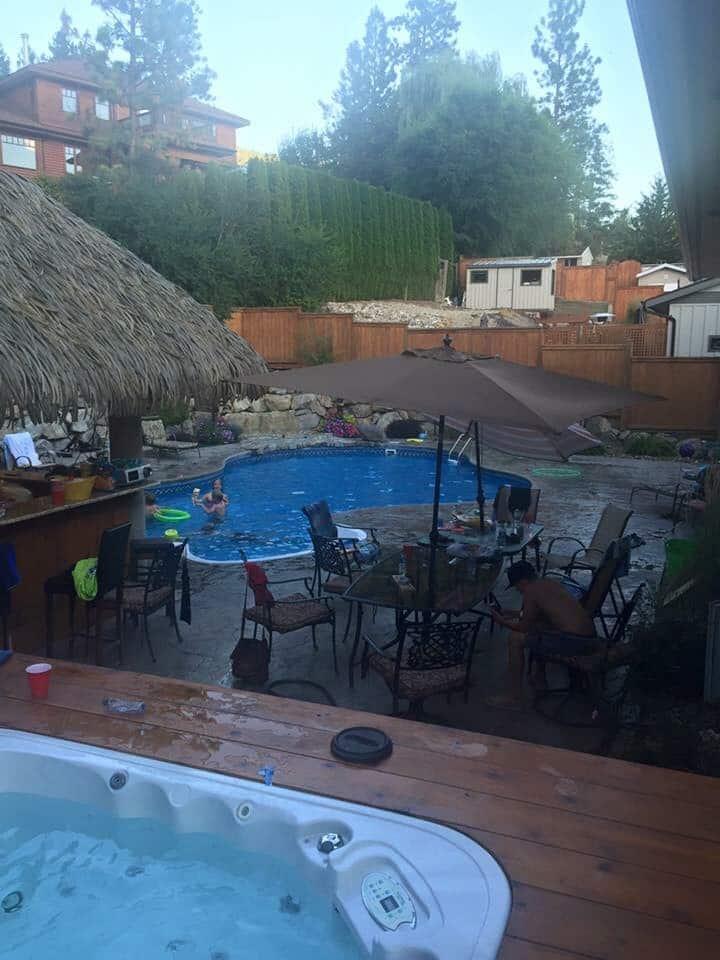 Luxury pool and cabana lake house