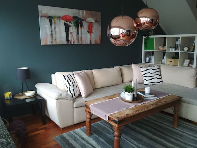 Modern two floors apartment close to city center