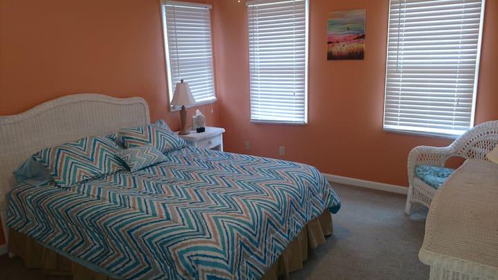 Beach Bedroom in Spacious Home