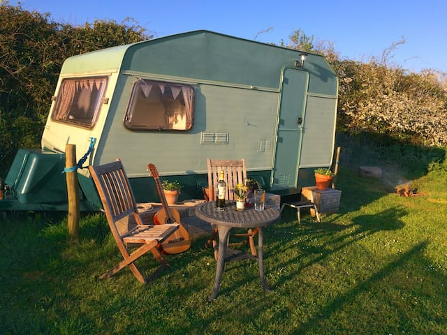 Glamping  in South Devon Caravan