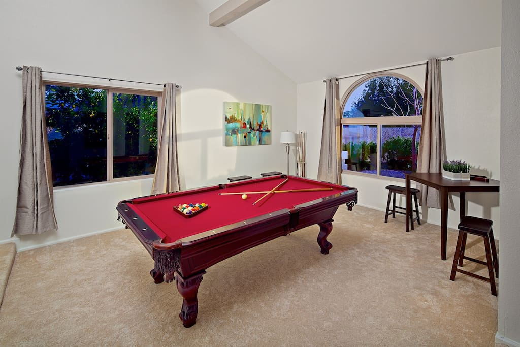 Have some fun and play a round of pool!