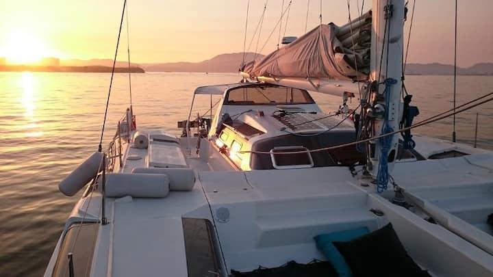 Une belle expérience sur un catamaran