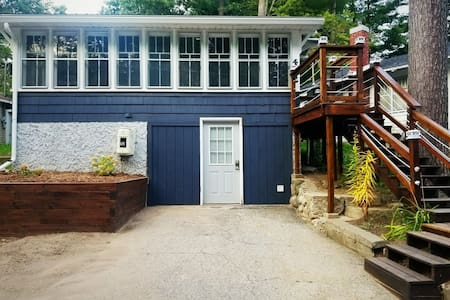 Cozy Blue Cottage with access to all sports lake