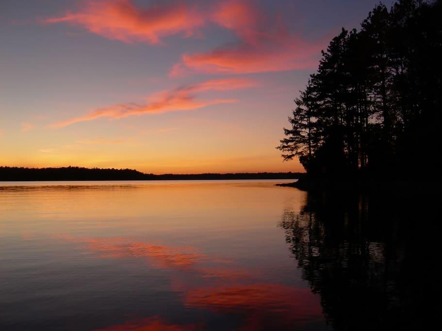 Grindstone Island: Big Rideau Lake at Sunset