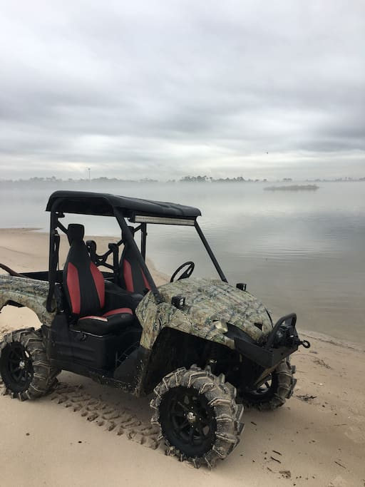 Rent our Teryx for a day of fun in our sandy river beaches.