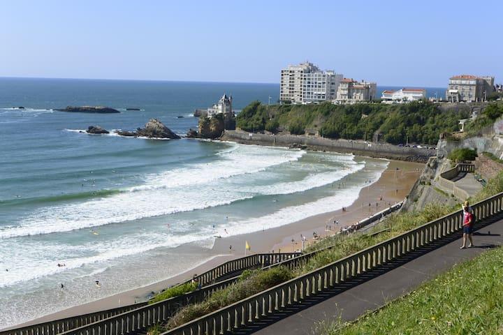 Biarritz vue mer studio 3 *** juillet 2020