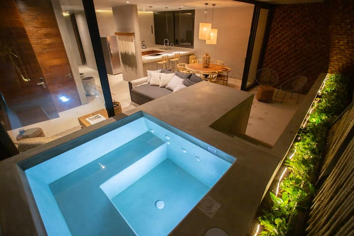 ★Boho Chic Jungle Condo w/ own plunge pool - ARBA★