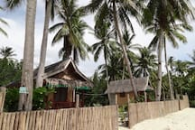 There are two small houses on my beach. You are interested in the one on the left. It is a bit bigger than the other one.