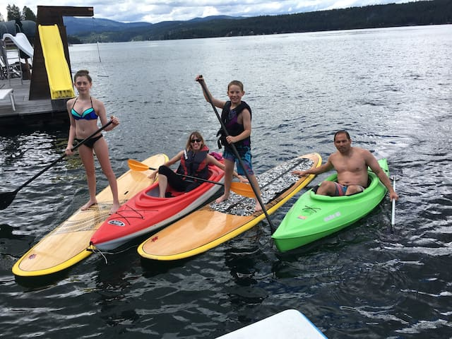 Kayaks and paddle-boards for use