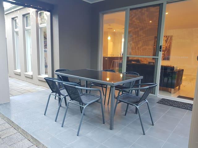 private outside dining area