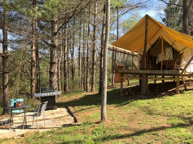 Creekside Glamping - 20 minutes from Asheville - Candler - Tenda