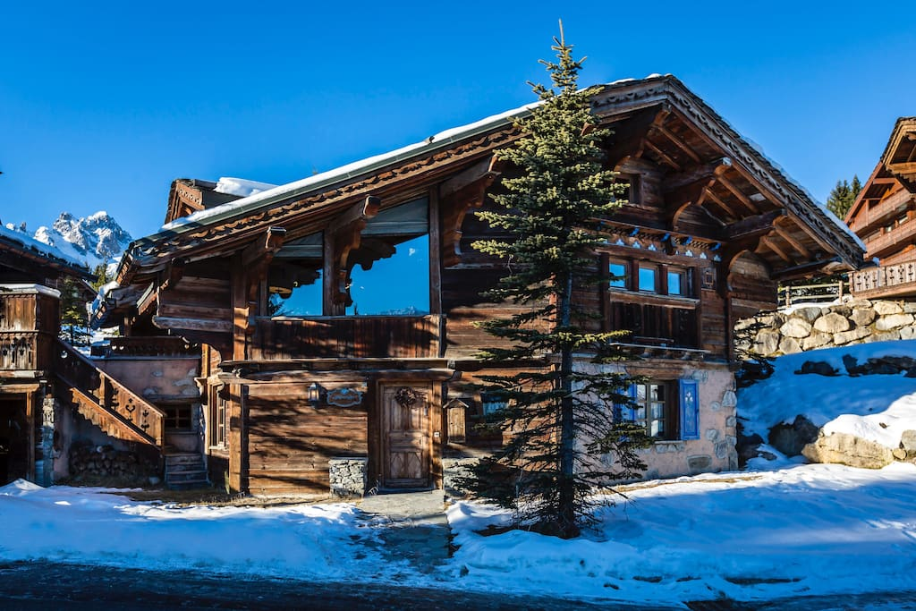 Made from wood reclaimed from original Alpine chalets
