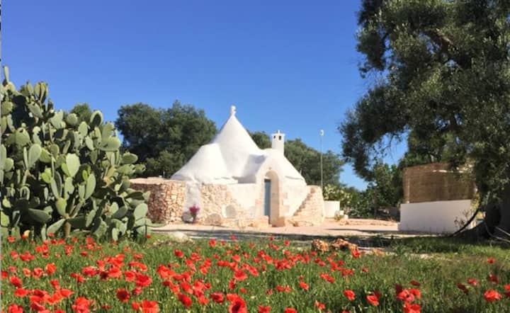 Trullo met hottub en wellness
