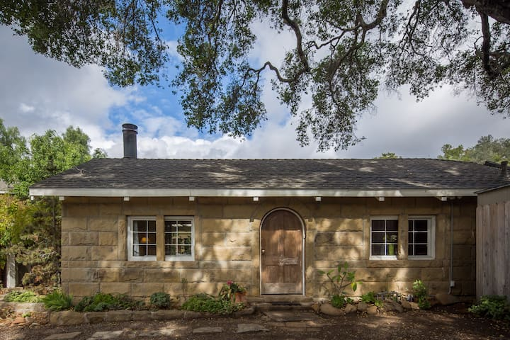 Mission Canyon Stone Cottage