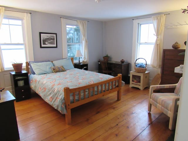 Spacious room in historic house near beach