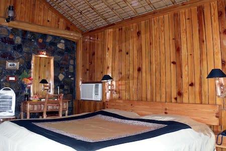 Wooden Log Hut in Jim Corbett