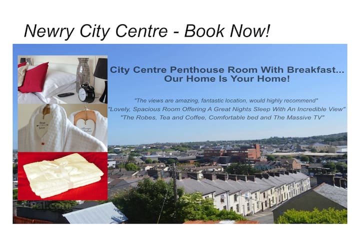 Penthouse Room with Breakfast in 3 Story Townhouse - Newry - Adosado