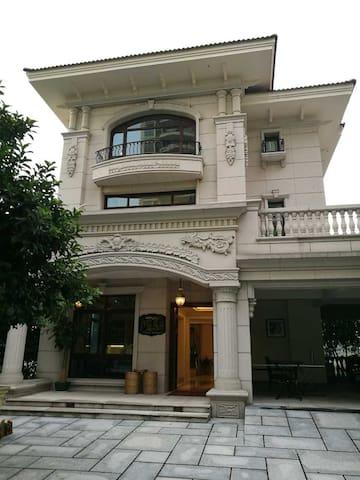 600方独栋五层豪华精装别墅、靠港口依山傍湖傍高尔夫果岭,聚会,度假 - Guangzhou - Villa